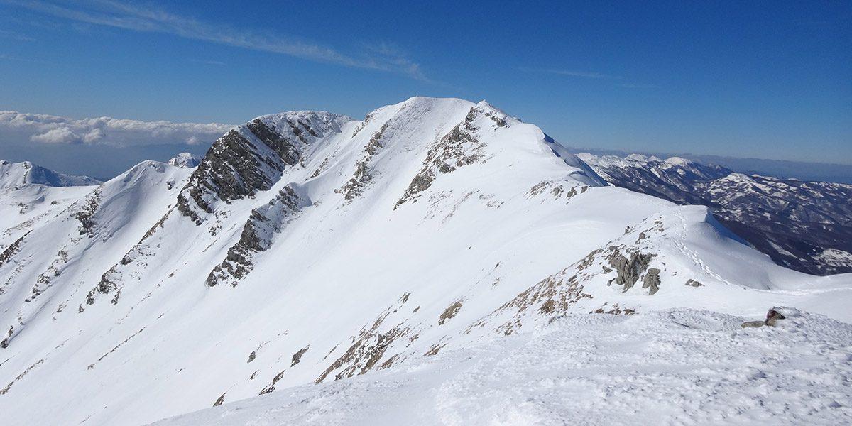 La cresta Est dell'Alpe di Succiso