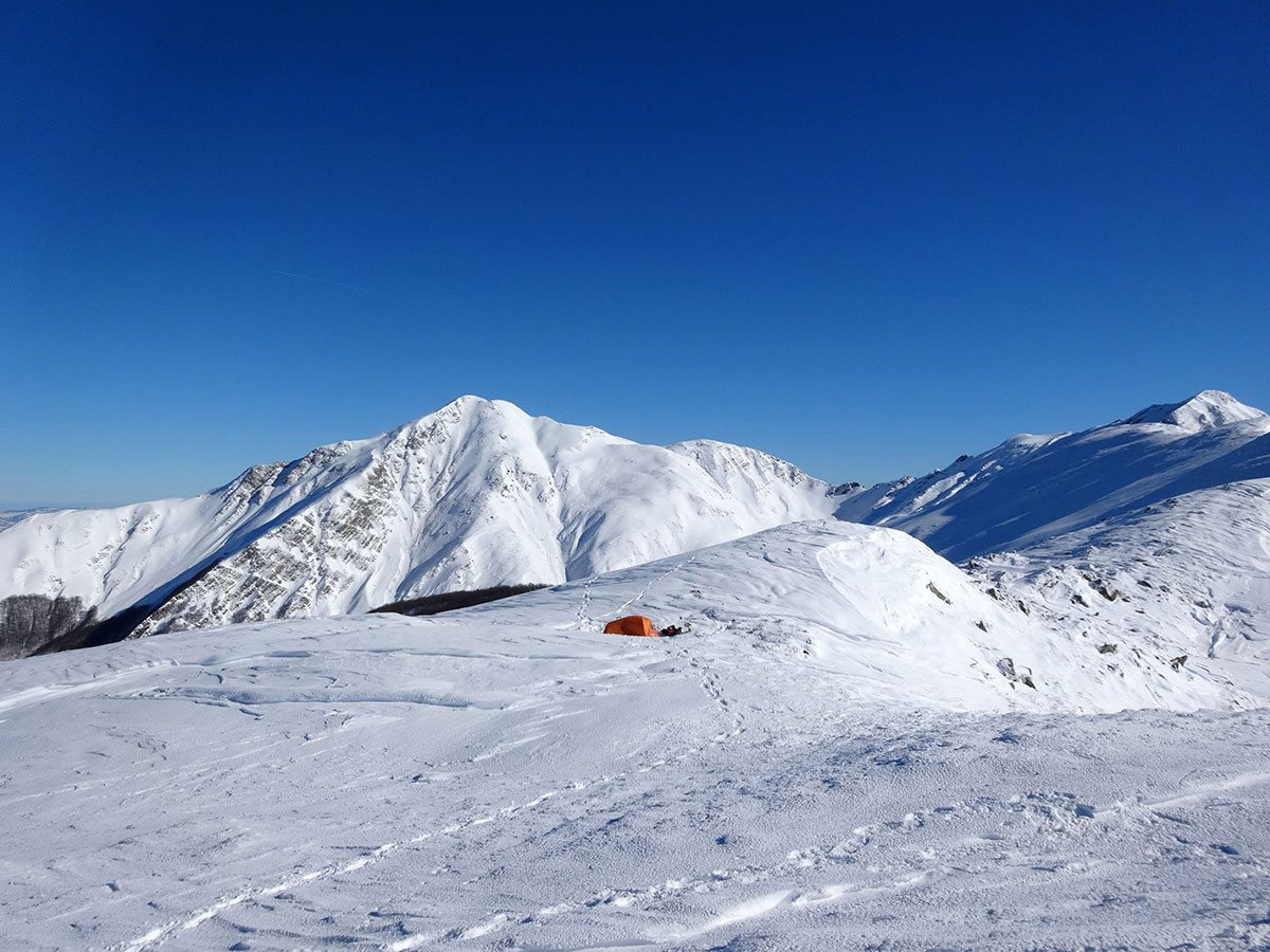 Campo base e l'Alpe di Succiso