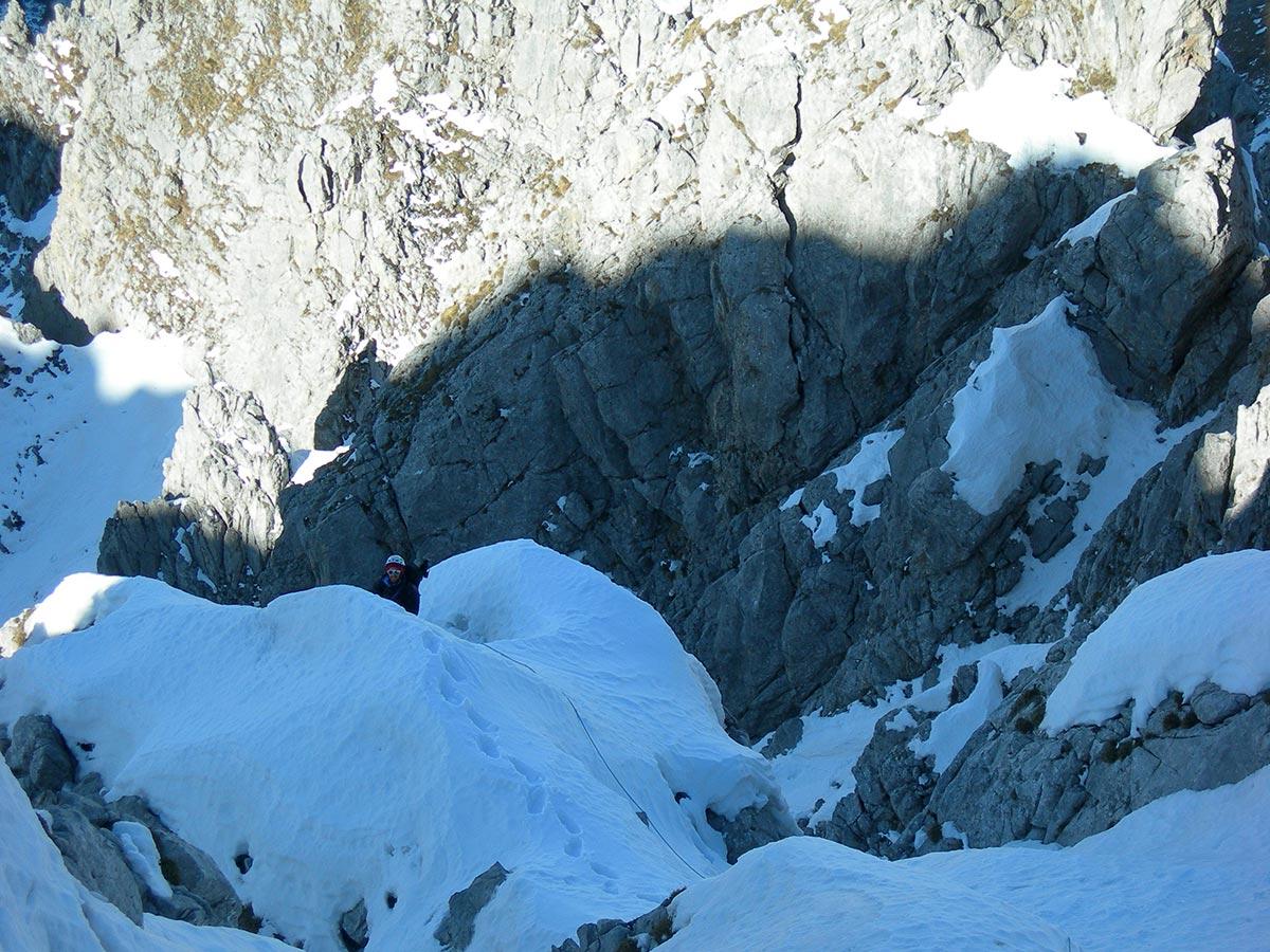Sulla cresta : 5° tiro (foto A. Piazza)