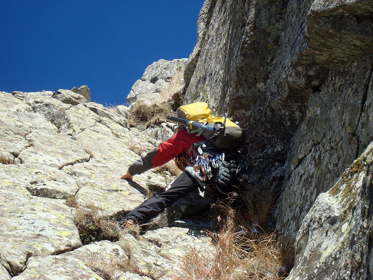 In arrampicata sul diedro