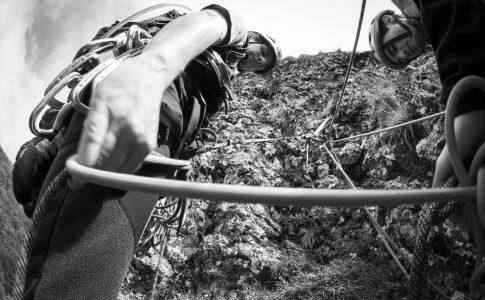 Soggettiva sulle mezze corde da sbrogliare