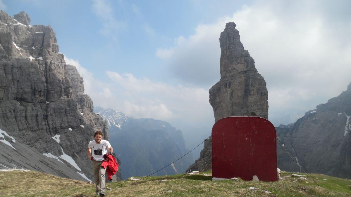 Campanile di Val Montanaia, via normale