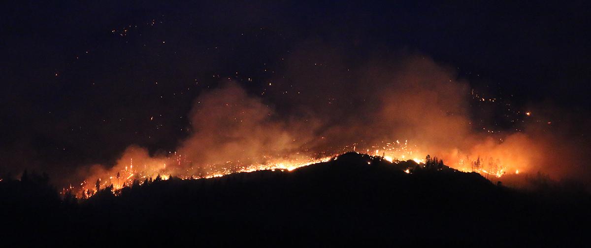 L'incendio nei pressi di Lytton