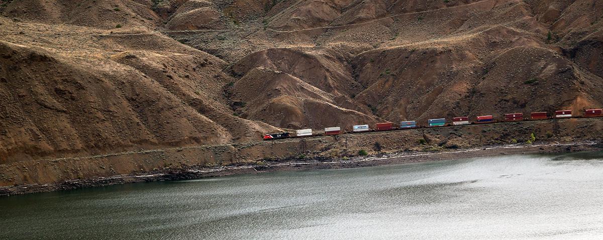I lunghi treni lungo la Thomson Valley