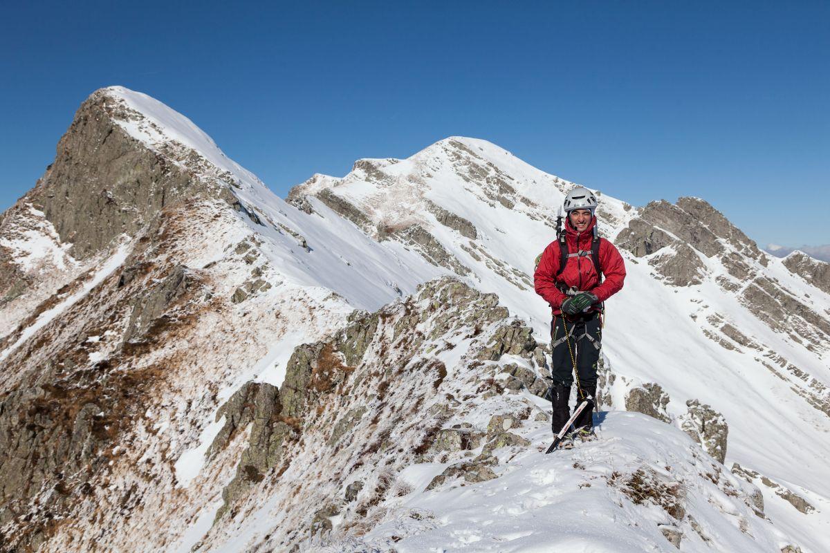Veduta della cresta verso il monte Alto