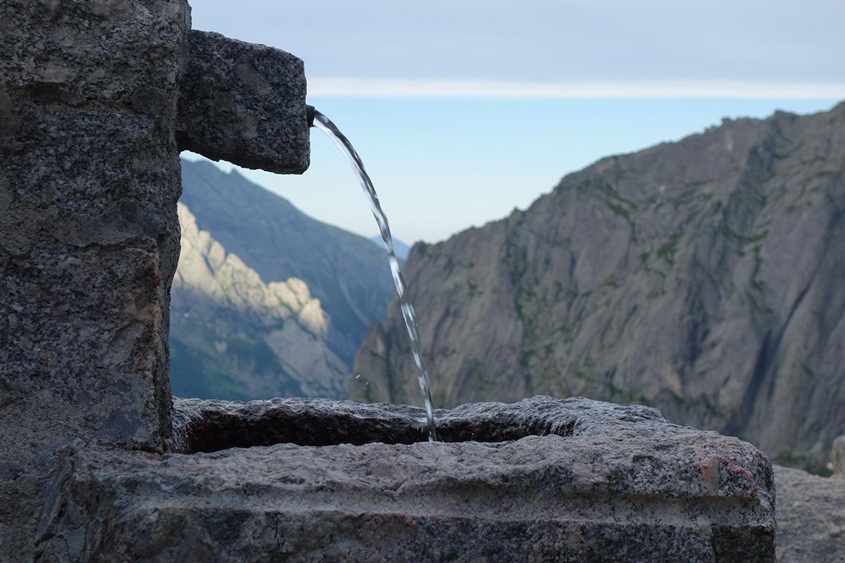La fontana del rifugio