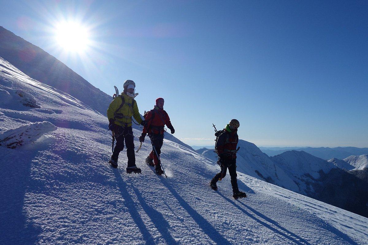 Scendendo sulla Cresta Nord dell'Alpe di Succiso (2 dicembre 2017)