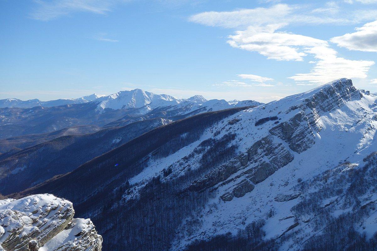 Verso Rocca Pianaccia e l'Alpe di Succiso