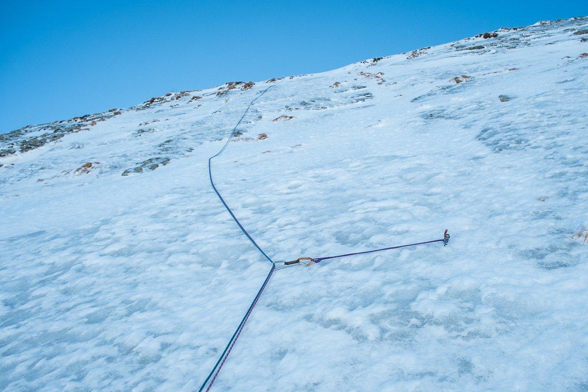La placca ghiacciata del primo tiro
