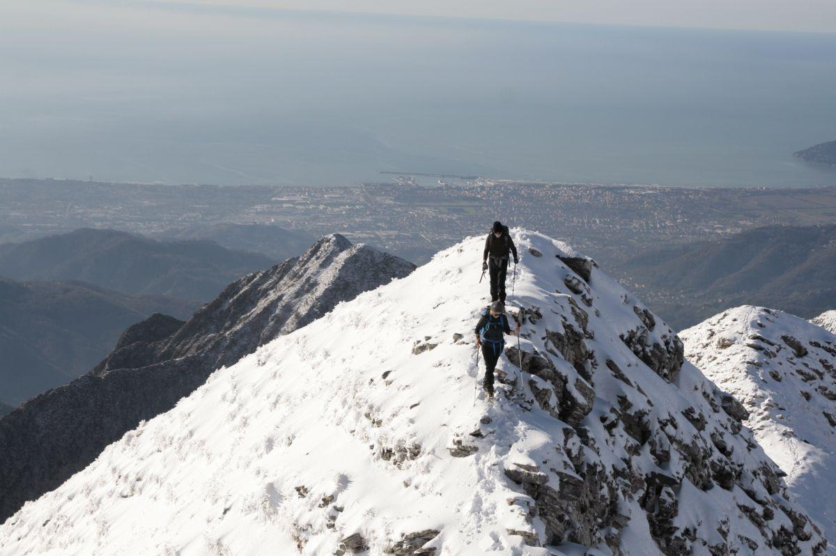 A picco su Carrara