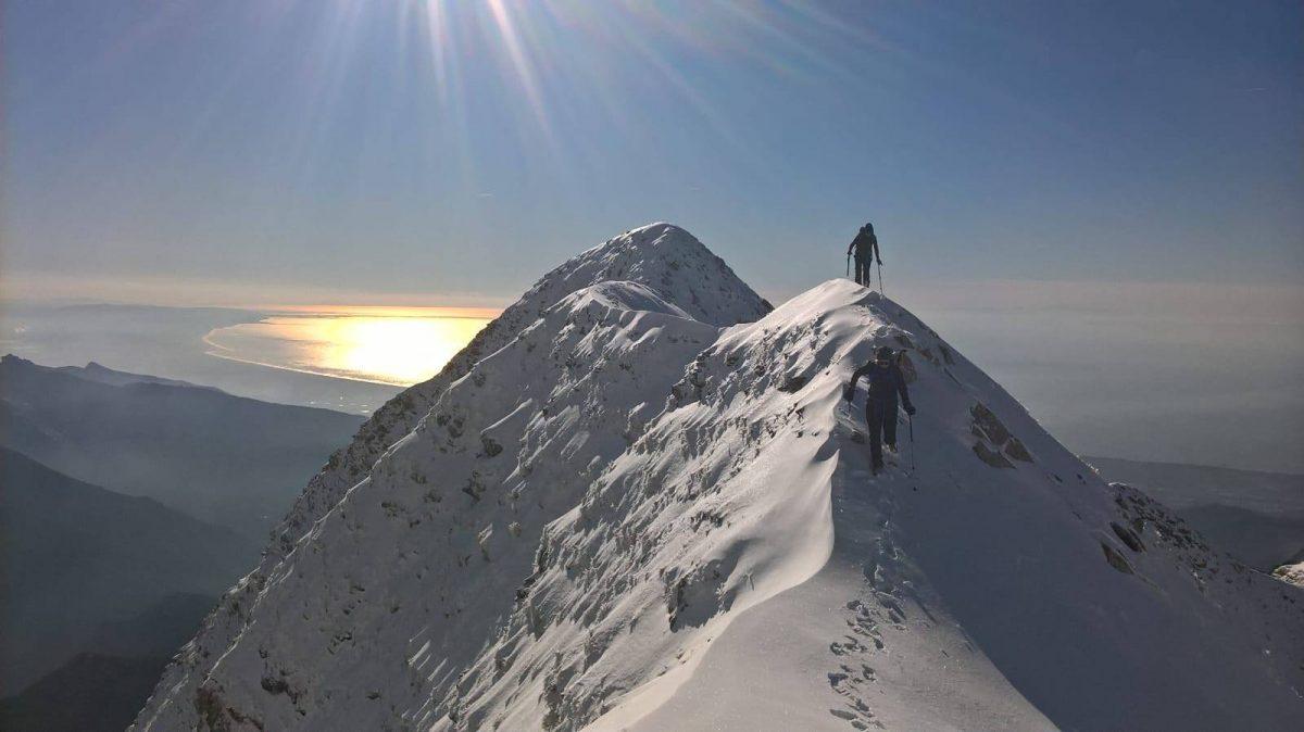 Sagro, Cresta dello Spallone (Alpi Apuane - 29 dicembre 2017)