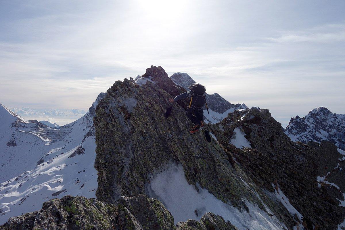 Passi esposti sulla cresta