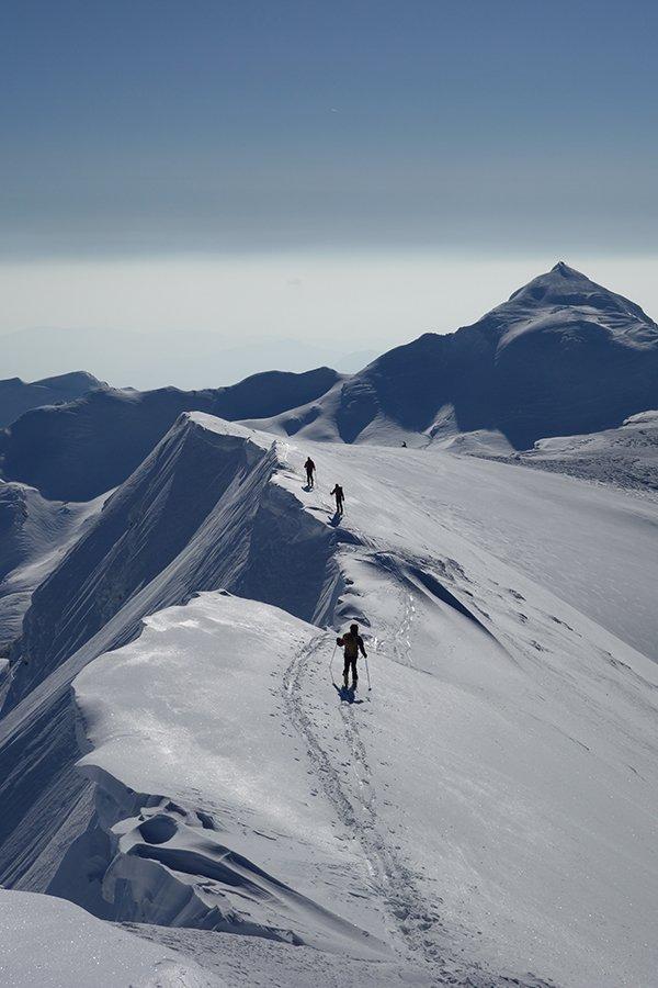 Nella prima parte di cresta, dopo la cima del Giovo