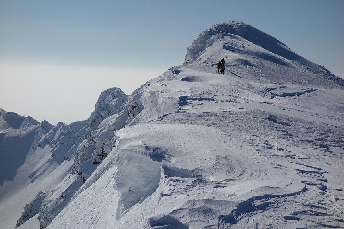 Prima parte della cresta dopo la cima del Giovo