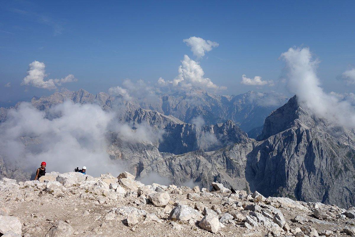 Panoramica verso Est dalla cima