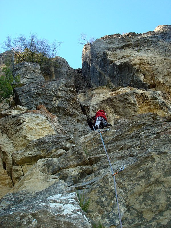 Bella roccia sulla Variante Alta