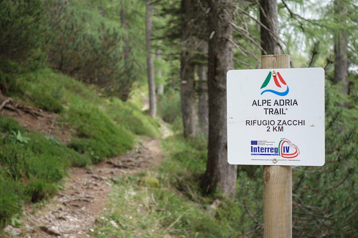 L'Alpe Adria Trail nei pressi del Rifugio Zacchi