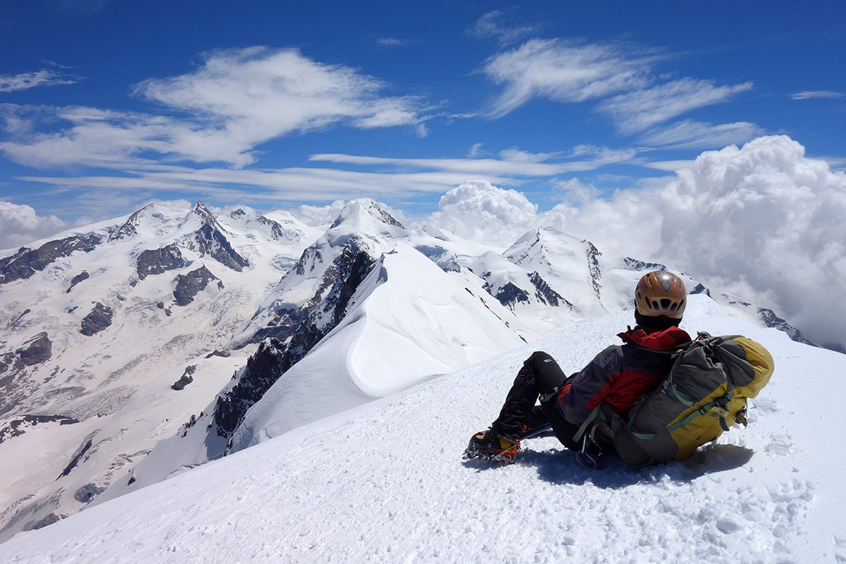 Relax sulla cima del Breithorn Occidentale