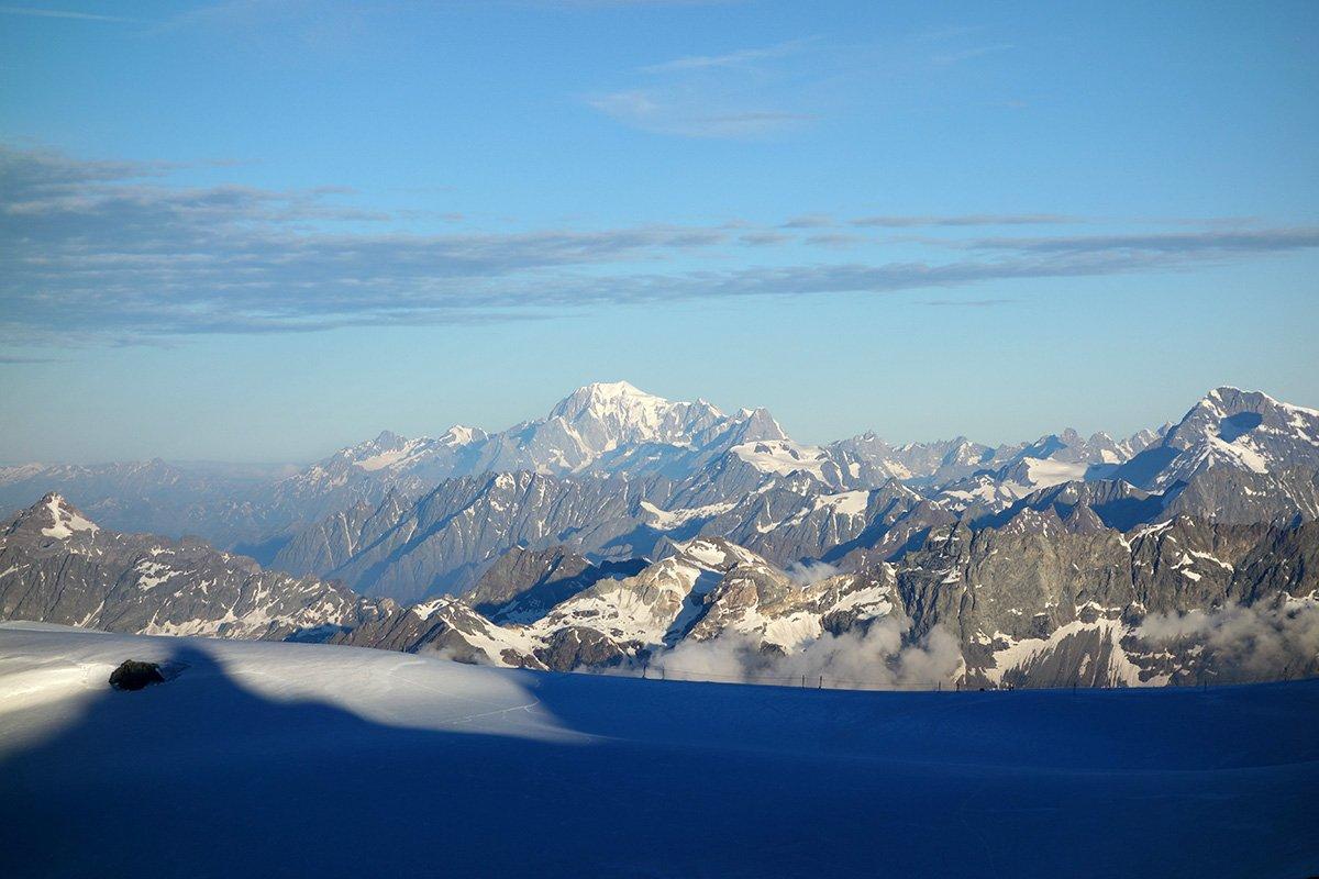 Ombre verso il Monte Bianco