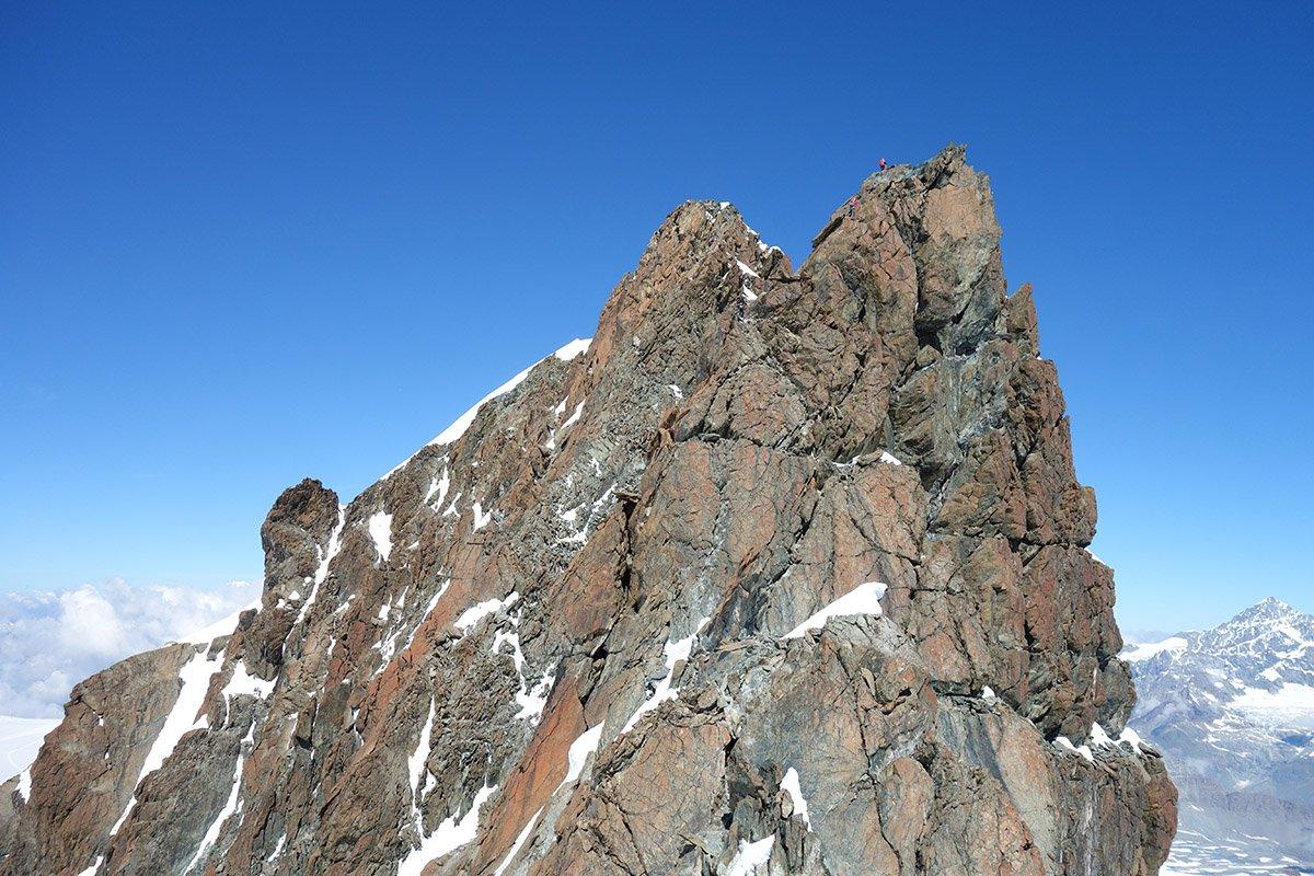 La seconda parte del tratto roccioso verso il Centrale
