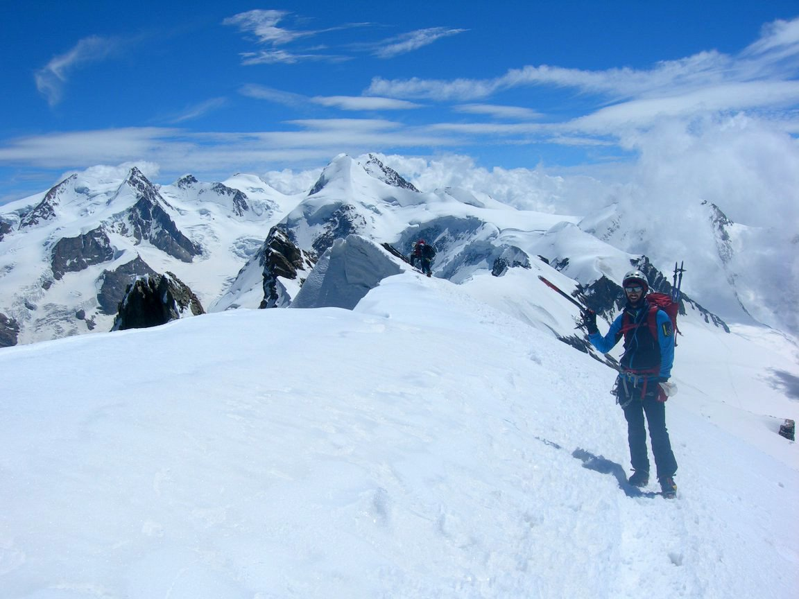 Ultima cima, in vetta al Breithorn Occidentale