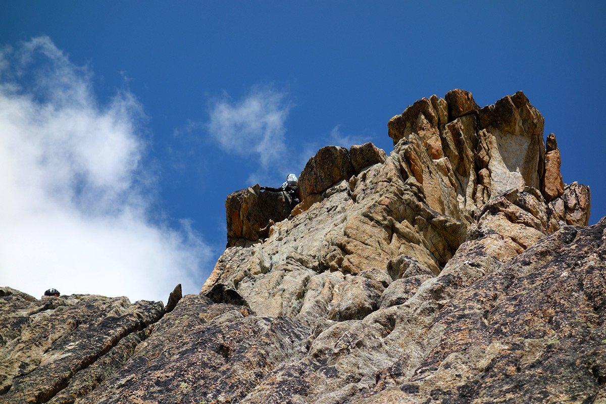 Bellissima roccia nel tratto delle Cannelures Stofer