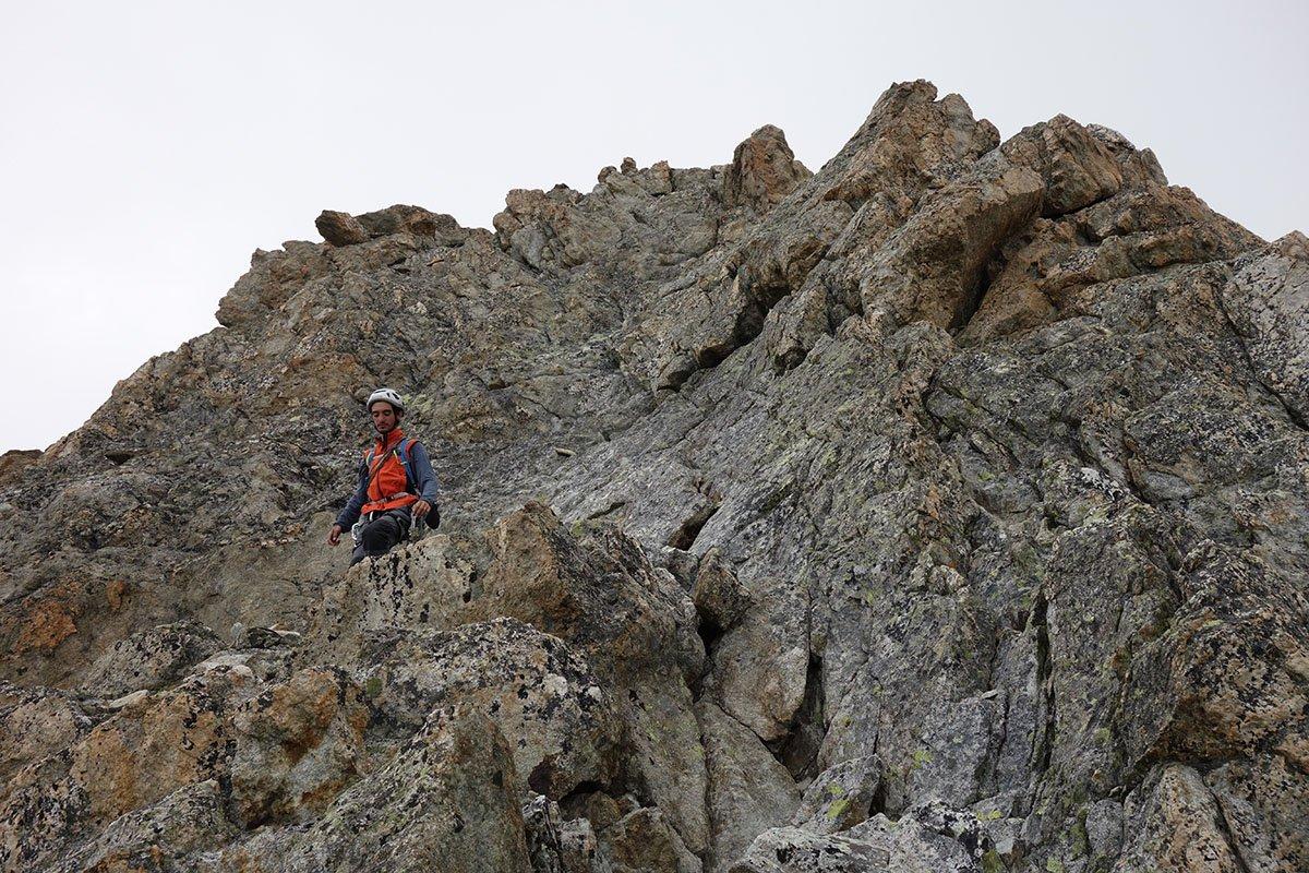 Bella roccia anche sul facile