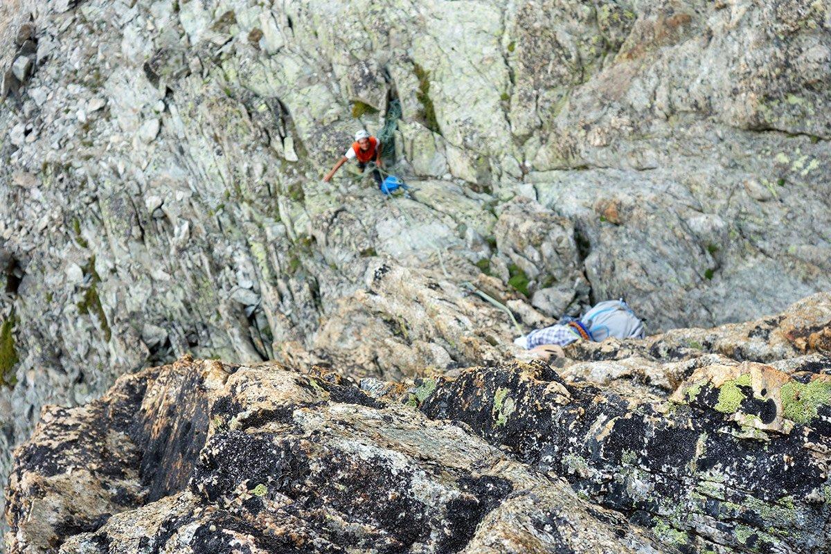 Bella roccia sul sesto tiro