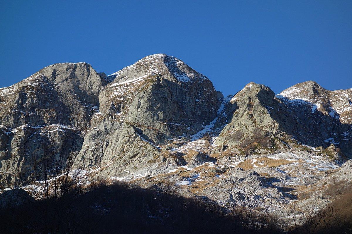 Monte Cavallo con la linea del Canale Cambron