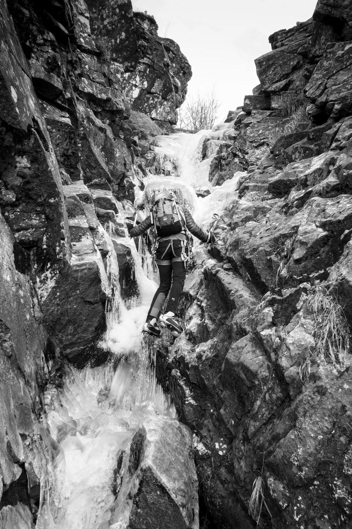 Il tratto più ripido della Cascata del Lago Scuro
