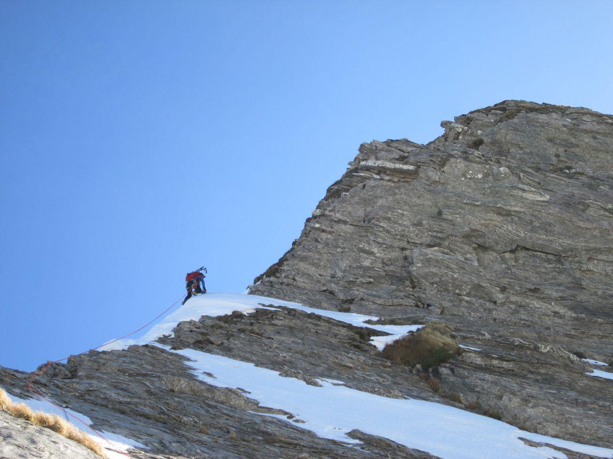 In salita verso la cima Centrale (inverno 2018-19)