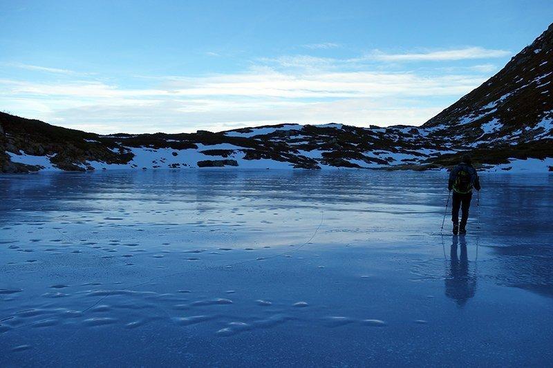 Pattinando sul Lago del Sillara