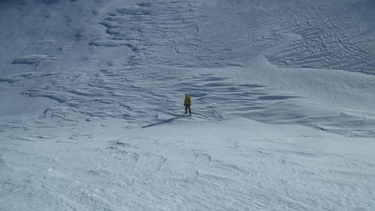 Giochi del vento sulla neve