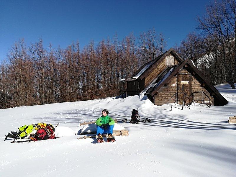 Rifugio Rio Pascolo, 1 m di neve! (14/02 @Luca Castellani)