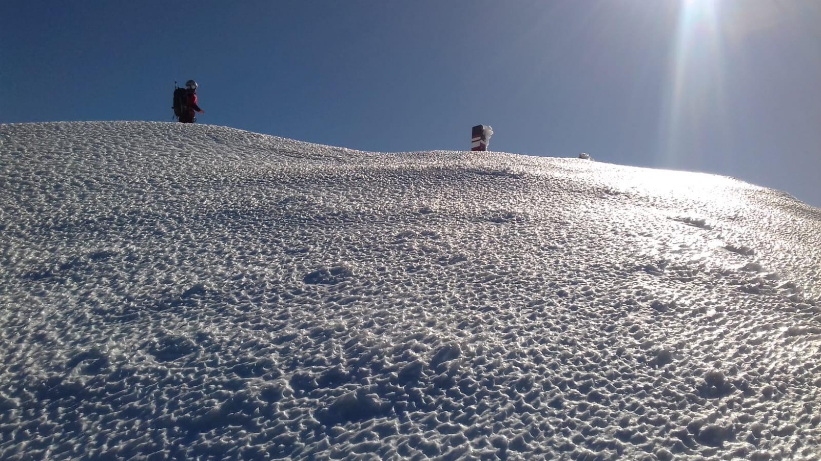 Nei pressi della vetta dell'Alpe di Succiso (14/02 @Alberto Piazza)