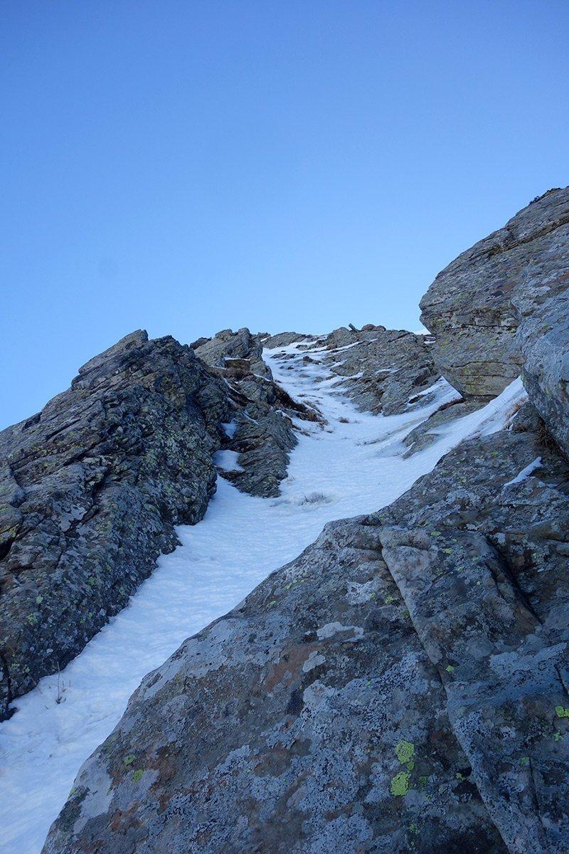La stretta linea della clessidra alpinistica